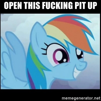 Post Ponies - OPEN THIS FUCKING PIT UP