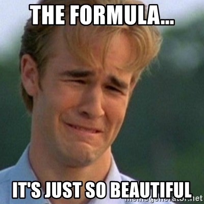 Crying Dawson - the formula... it's just so beautiful