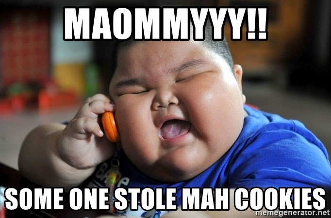 Fat Asian Kid - MAOMMYYY!! SOME ONE STOLE MAH COOKIES