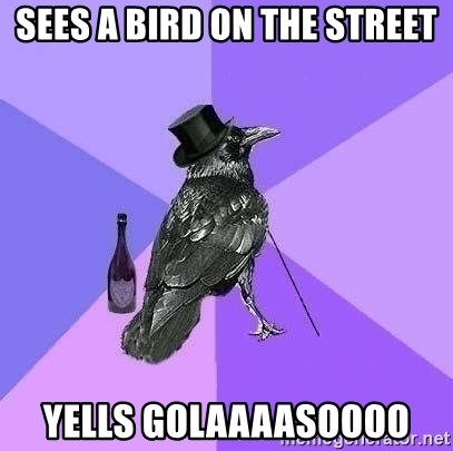 Rich Raven - SEES A BIRD ON THE street YELLS GOLAAAASOOOO