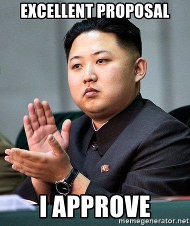 Kim Jong Un Clap - Excellent proposal i approve