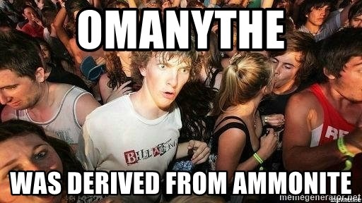 -Sudden Clarity Clarence - Omanythe was derived from ammonite