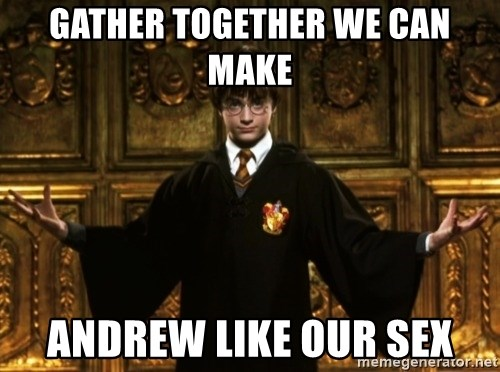 Harry Potter Come At Me Bro - GATHER TOGETHER WE CAN MAKE ANDREW LIKE OUR SEX