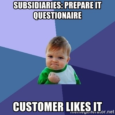 Success Kid - subsidiaries: Prepare it questionaire customer likes it