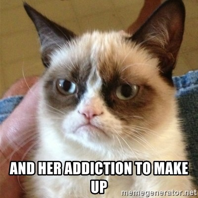 Grumpy Cat  -  and her addiction to make up