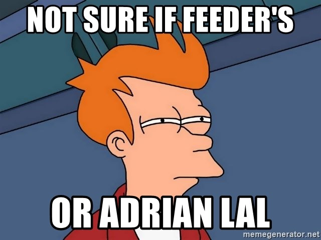 Futurama Fry - not sure if feeder's or Adrian Lal