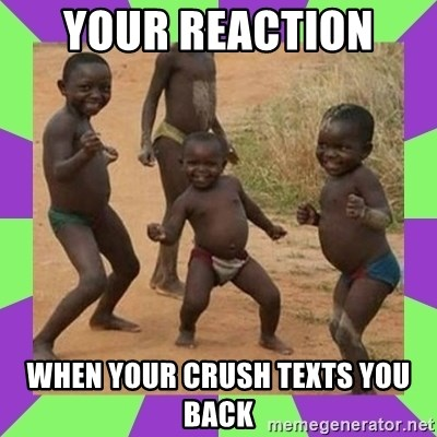 african kids dancing - your reaction  when your crush texts you back