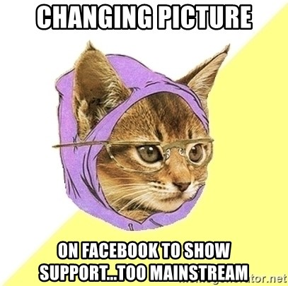 Hipster Cat - Changing picture on facebook to show support...too mainstream