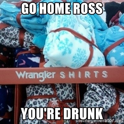 GO HOME--You're Drunk  - Go home ross you're drunk