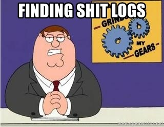 Grinds My Gears Peter Griffin - Finding shit logs