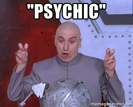 """Dr. Evil Air Quotes - """"psychic"""""""