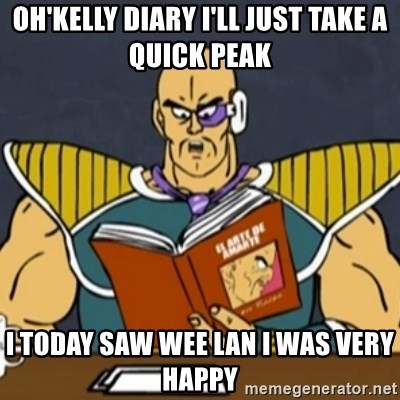 El Arte de Amarte por Nappa - Oh'kelly diary i'll just take a quick peak i today saw wee lan i was very happy