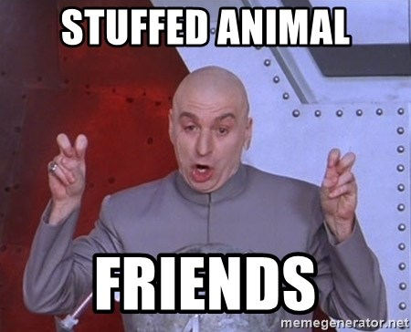 Dr. Evil Air Quotes - Stuffed Animal Friends