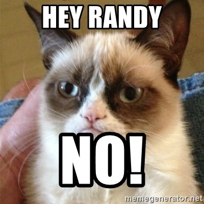Grumpy Cat  - Hey randy no!
