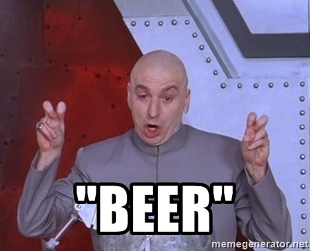 "Dr. Evil Air Quotes -  ""Beer"""