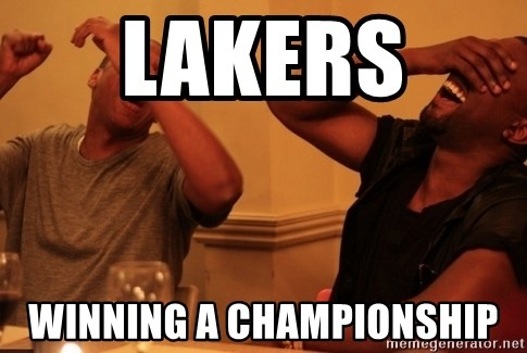 kanye west jay z laughing - lakers  Winning a championshIp