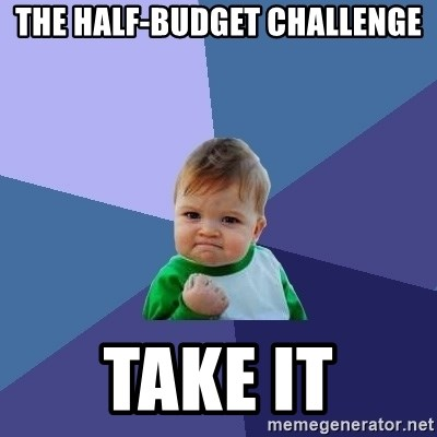 Success Kid - the half-budget challenge take it