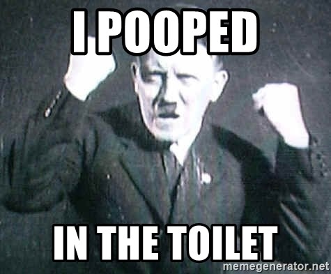 Successful Hitler - i pooped in the toilet