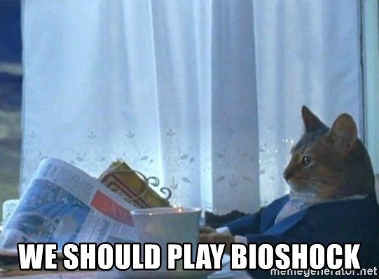 newspaper cat realization -  we should play bioshock