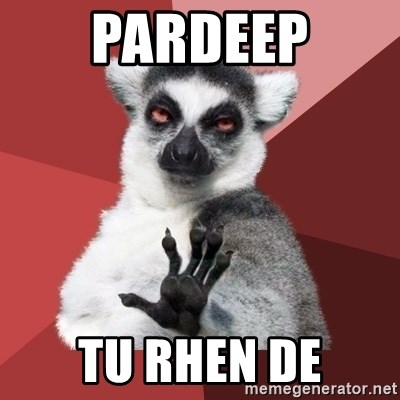 Chill Out Lemur - Pardeep Tu rheN de