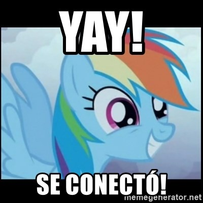 Post Ponies - YAY! SE CONECTÓ!