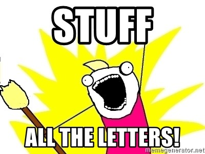 X ALL THE THINGS - Stuff All the LetterS!