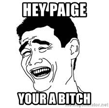 Dumb Bitch Meme - Hey Paige Your a BITCH