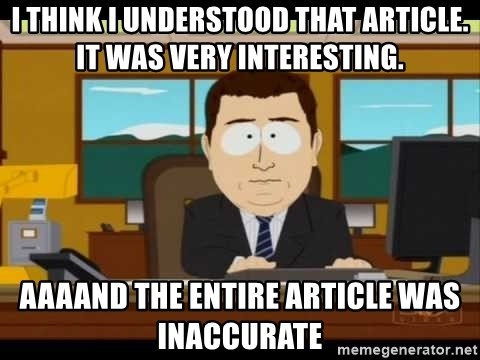 south park aand it's gone - I think I understood that article. It was very interesting. AAAAnd the entire article was inaccurate