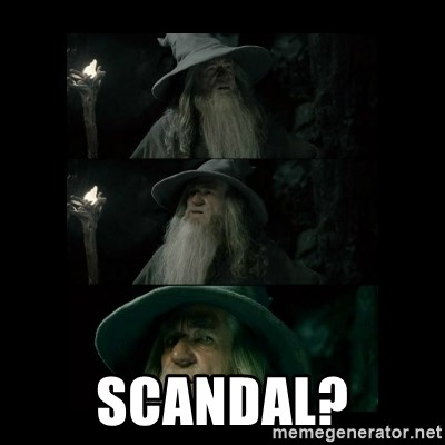 Confused Gandalf -  Scandal?