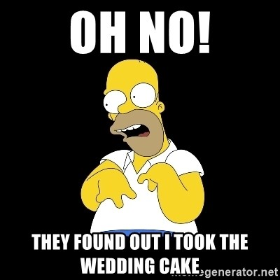 look-marge - OH NO! THEY FOUND OUT I TOOK THE WEDDING CAKE
