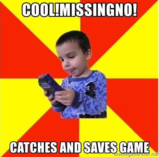 Pokemon Idiot - cool!MISSINGNO! CATCHES AND SAVES GAME