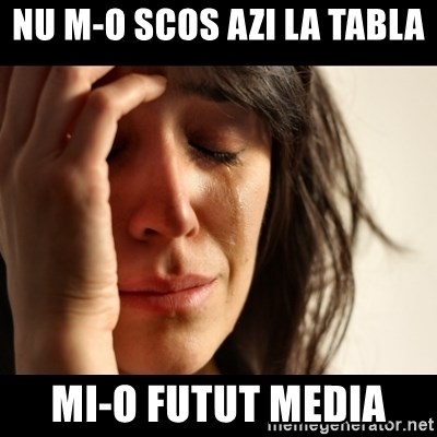 crying girl sad - nu m-o scos azi la tabla  mi-o futut media