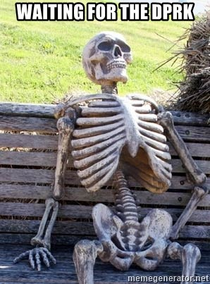Waiting Skeleton - waiting for the dprk