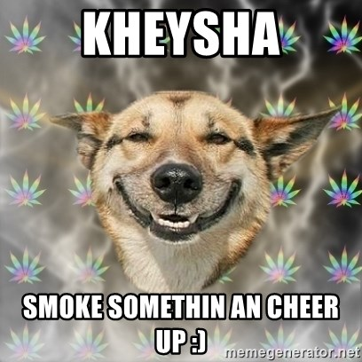 Stoner Dog - Kheysha Smoke somethin an cheer up :)