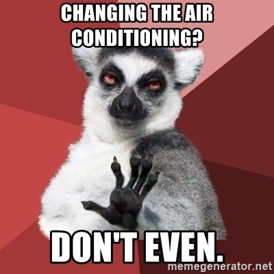 Chill Out Lemur - Changing the Air conditioning? don't even.