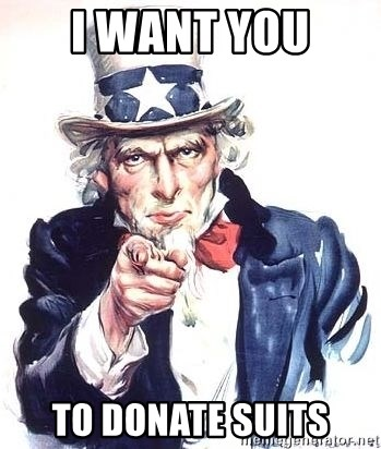 Uncle Sam - I want you  to donate suits