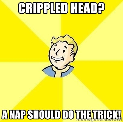 Fallout 3 - Crippled head? A nap should do the trick!
