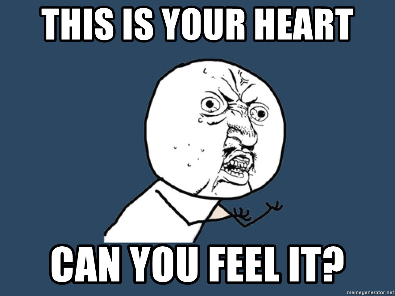 Y U No - THIS is your heart can you feel it?