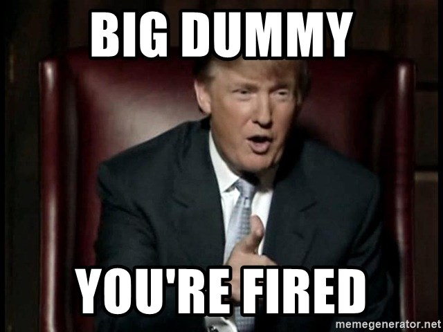 Donald Trump - BIG DUMMY you'rE FIRED