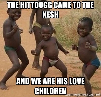 Dancing african boy - The hittdogg came to The kesh And we are his love children