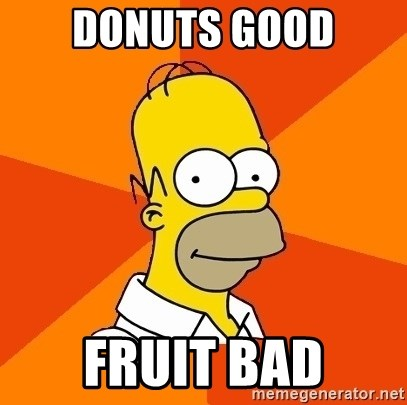 Homer Advice - DONUTS GOOD FRUIT BAD