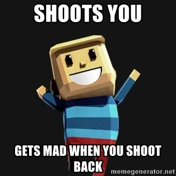 Happy Tourist - Shoots you gets mad when you shoot back