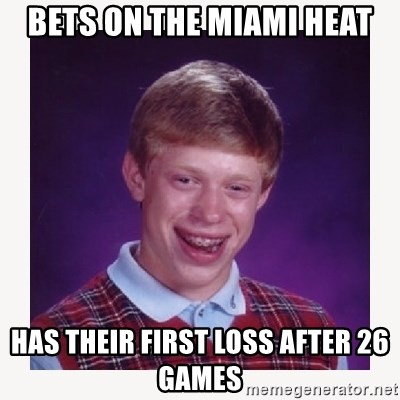 nerdy kid lolz - BETS ON THE MIAMI HEAT HAS THEIR FIRST LOSS AFTER 26 GAMES