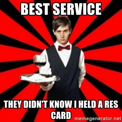 typical_off - Best service They didn't know I Held a res card