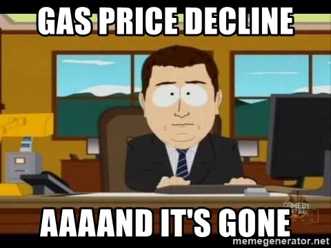 Aand Its Gone - gas price decline aaaand it's gone