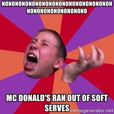 Sasha Hater2 - NONONONONONONONONONONONONONONONONNONONONONONONONONO MC DONALD'S RAN OUT OF SOFT SERVES