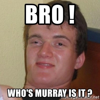 Really Stoned Guy - BRO !  WHO'S MURRAY IS IT ?