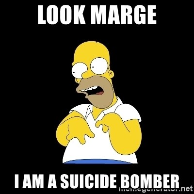 look-marge - look marge i am a suicide bomber
