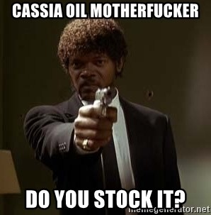 Jules Pulp Fiction - CASSIA OIL MOTHERFUCKER DO YOU STOCK IT?