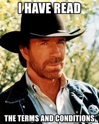 Brutal Chuck Norris - i have read the terms and conditions